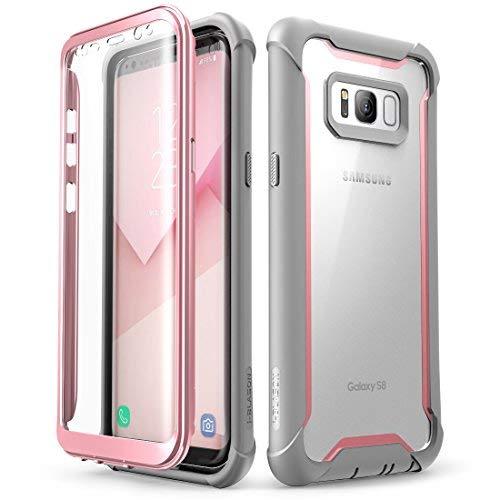 i-Blason Schutzhülle für Samsung Galaxy S8 2017 mit integriertem Bildschirmschutz (Rosa)