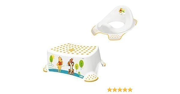 WC Aufsatz Winnie Pooh 3er Set  weiß Kindertopf Hocker   Toilettentrainer