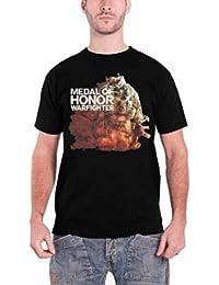 Medal Of Honor Homme T Shirt Noir War fighter Soldier band logo officiel