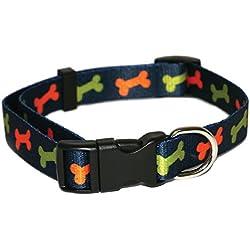 rosewod hueso collar de perro, 14–50,8cm