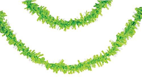 Creative Converting Tissue Garland 25' Fresh Lime
