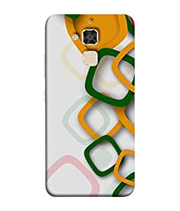 Fuson Designer Back Case Cover for Asus Zenfone 3 Max ZC520TL (5.2 Inches) (round circle lines strips art)