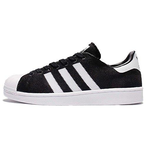 adidas Herren Superstar Sneakers, Blau, 38 EU schwarz / weiß