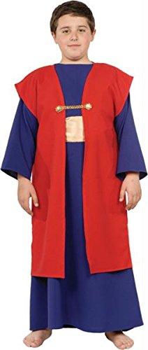 Halloween Kostüm Party Kleidung Festival Fasching Karneval Cosplay Retro Mode Fun Kinder Junge Kostüm Christmas Wiseman I (Tunika + Weste) - Kindergröße S (Wiseman Kostüme Kinder)
