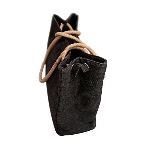 Grande Tela Semplice Hangbag Borsa A Tracolla Borsa Tote Nero nero