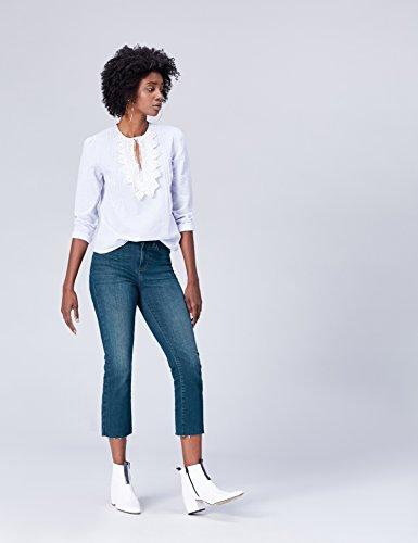 FIND  Jeans Elasticizzati Donna a Vita Alta Blu