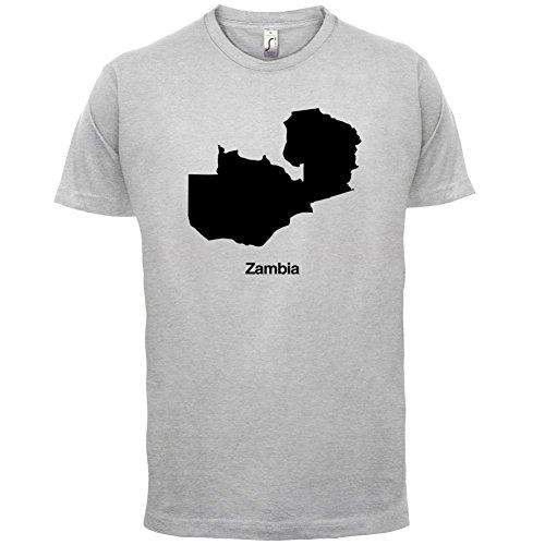 Zambia / Sambia Silhouette Silhouette - Herren T-Shirt - 13 Farben Hellgrau