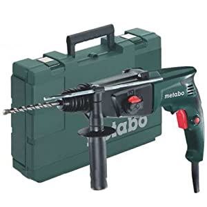 Metabo 6.06154.00 606154000-Martillo Ligero SDS-Plus KHE 2444 800W con maletín, 800 W, 240 V, Negro, Verde