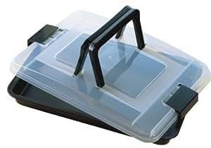 KAISER Brat- und Backform 42 x 29 cm Bake & Take sehr gute Antihaftbeschichtung sichere Premium-Transporthaube mit klappbarem Griff praktisches Frischalten und Aufbewahren