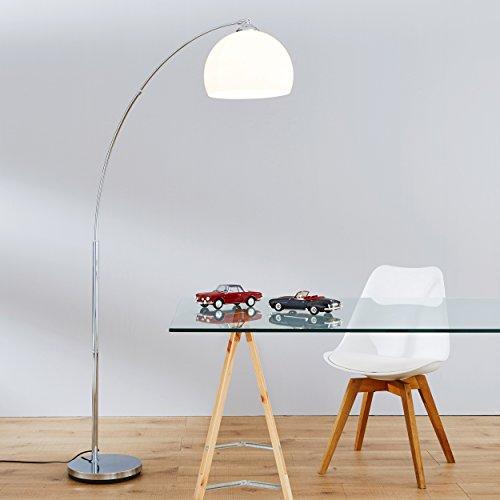 Brilliant-9294075-Vessa-Lmpara-de-pie-bombilla-E27-mx-60-W-color-cromado-y-blanco