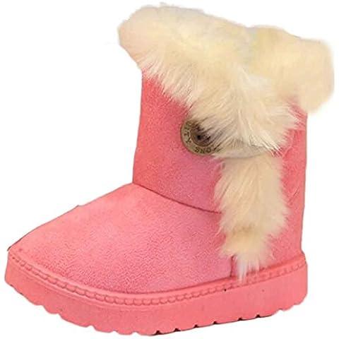 Malloom Moda bebé de invierno niñas niño peludo nieve Botas zapatos calientes para 1-6 años