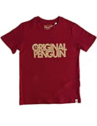 9254b3f1f2 Original Penguin Penguin Boys T-Shirt Red 7-8Y 8-9Y 10-