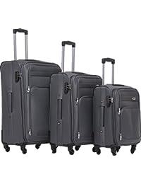 Maleta de viaje BEIBYE 8005con 4ruedas. Juego de equipaje en 6 colores., gris