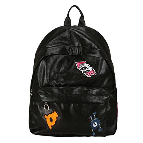 9390e468451caf Hologram Backpack Girl School Bag Donna Rosa Nero Borsa Semplice Metallic  Silver Zaini Olografici Wm507Z Black