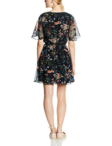 Only Onlmolly Rosalind S/s Dress, Robe Femme Multicolore (Blue Graphite AOP:BOTANICAL BUTTERFLY)