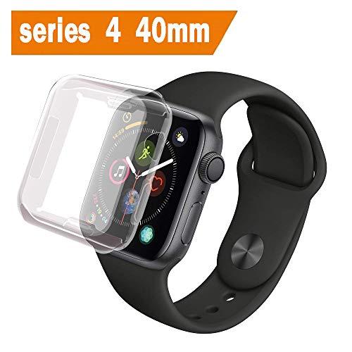 ALOUCH Coque Apple Watch Series 4 40mm, iWatch 4 Case Protection Ecran Couverture Complète Ultra Transparent Film Protection en TPU Souple Convient pour Apple Watch Series 4 40mm