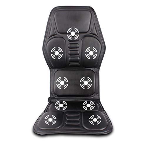 12V Car Seat Massage Kissen Vibration Pad Cover für Rücken und Oberschenkel mit Wärmefunktion für Home Car Office (Car Massage Cover Seat)