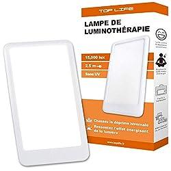 Tageslichtlampe 15000 Lux - Einstellbares Tageslicht 3 Intensitäten - Lichttherapie Lampe zur ausgleich von Lichtmangel - Bewährte therapeutische Wirksamkeit gegen saisonale Depressionen (SAD)