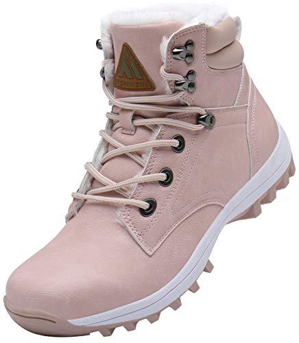 Mishansha Mujer Botas de Nieve Invierno Botines Senderismo Impermeables Deporte Trekking Zapatos Fur...