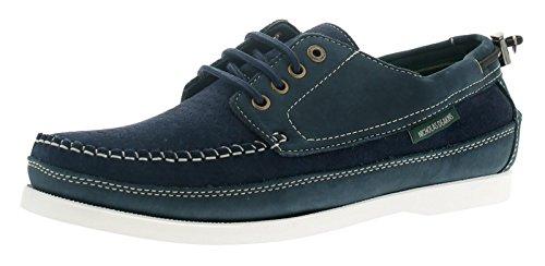 Private Brand - Zapatos de cordones de sintético para hombre, color negro, talla 12 UK