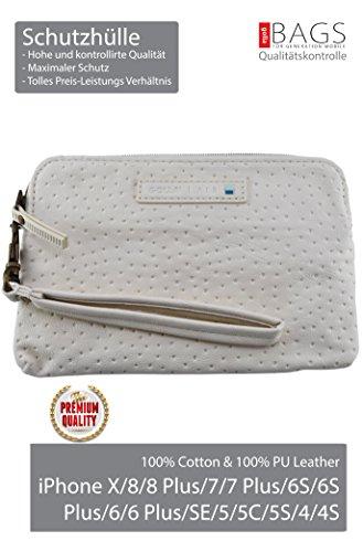 Golla Hülle Air***Top-Premium***für iPhone X/8/8 Plus/7/7 Plus/6S/6S Plus/6/6 Plus/SE/5/5C/5S/4/4S Größe -175x115x15 mm- !*Ewige Klassiker*! (Cream (White)) (Top-handys)