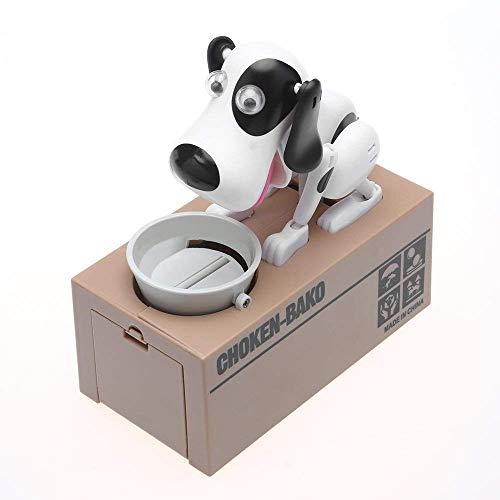 TotallyFashion Spardose mit mechanischem Hund, Roboter-Münze, süße Tier-Spardose mit automatischer Münzbank, Spardose sicher - beobachten Sie es Ihre Münzen