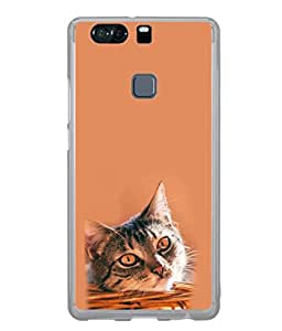 FUSON Designer Back Case Cover for Huawei P9 Plus (Animal Cat Cute Domestic Preety)