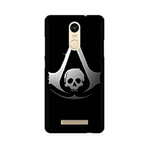 Kmltail Skull On the Asscessan Creed Abstract Premium Printed Mobile phone back case Cover for Redmi Note 3