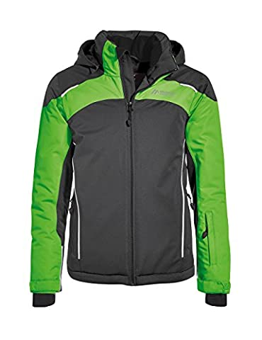 maier sports Kinder Breckenridge Skijacke, Black / Classic Green, 152