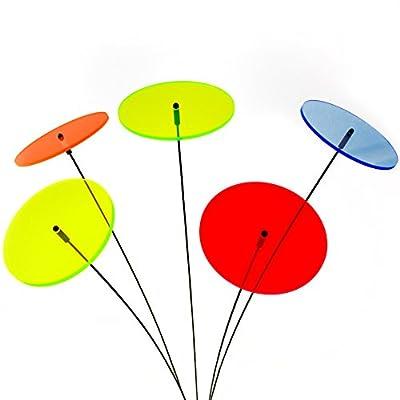 """SUNPLAY """"Sonnenfänger-Scheiben"""" im FARBMIX, 5 Stück zu je 10 cm Durchmesser im Set + 35 cm Schwingstäbe von SUNPLAY auf Du und dein Garten"""