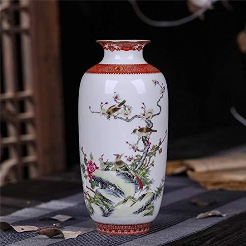 ZMSL Antike Keramikvase Eierschalenvase Schreibtischzubehör Handwerk Schnee Blumentopf Traditionellen Stil Porzellanvase, 3, China