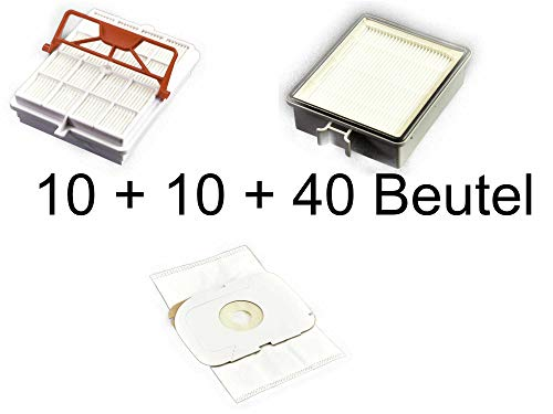 10 Hygiene-Carbon-Filter + 10 Abluftfilter + 40 Staubsaugerbeutel geeignet LUX Intelligence