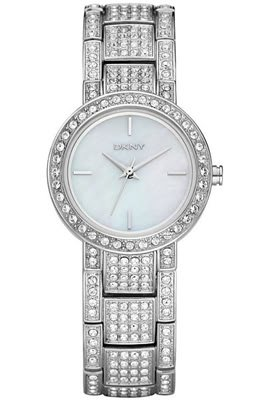 DKNY Ladies Watch NY8051 with White Dial and Silver Stainless Steel Bracelet