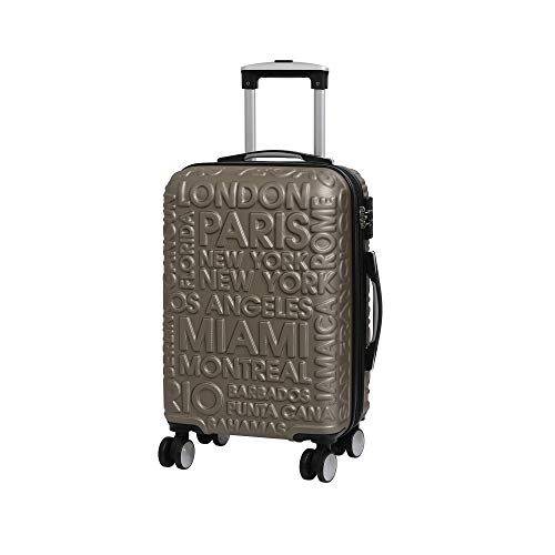 it luggage Destinations II - 8 Wheel Hard Shell Single Expander Suitcase with TSA lock Valigia, 54 cm, 48 liters, Oro (Gold)