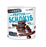 GymPro Protein Schokis, Hochwertiger Eiweiß Protein Riegel Ersatz. Low Carb Proteinriegel Alternative zur Schokolade (Milchschokolade, 450g)