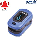 Newnik PX701 Fingertip Pulse Oximeter with Audio-Visual Alarm (Royal Blue)