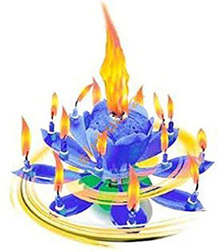 Musik Blumenkerzen blau Alles Gute zum Geburtstag mit Fontäne und Musik Kerzen Tortendeko Hochzeitsfontäne 14 Kerzen mit der bekannten Melodie Happy Birthday