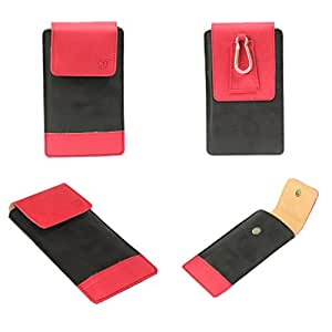 J Cover A14 F Nillofer Series Leather Pouch Holster Case For Samsung Chat 322 Black Red
