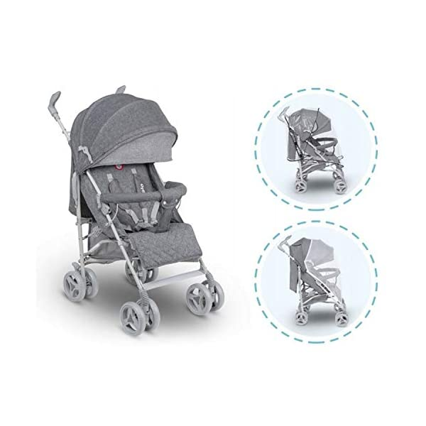 Lionelo Irma Folding Stroller with Backrest Adjustment 6 Inch Wheels (Gray) Lionelo ▶ 4-stage backrest adjustment from seat to reclining position. The child can sleep comfortably and quietly. ▶ The handles can be rotated 360 degrees to improve the well-being of a parent. ▶ Light and easy to fold frame ▶ can be folded up in any car boot or can also be used as a perfect travel companion on the plane 5