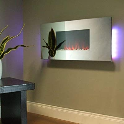Ezze Glow WH2 Annalee Mirror Glass Wall Mounted Electric Fire
