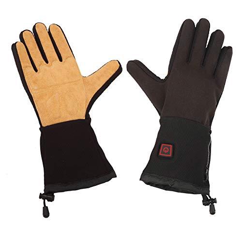 Thermo Heizelemente (Thermo Gloves Thermohandschuhe Arbeitshandschuhe Handschuhe Akku schwarz Winter, Handschuhgröße:5.5 bis 8)