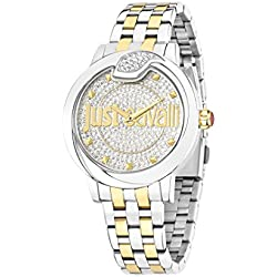 Just Cavalli Spire Women's Quartz Watch with White Dial Analogue Display and Silver Stainless Steel Strap R7253598504