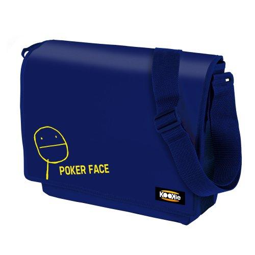 KOOKIE Freizeit Umhängetasche MEME - Verstellbarer Schultergurt, Frontklappe mit Velcroverschluss, innen gefüttert - Größe: 36,5x9x29 cm. Farbe: Blau blue