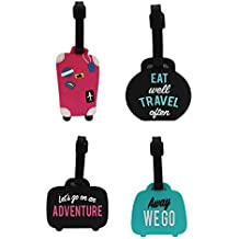 Tootpado Luggage Tag Set Bag Travel Tags