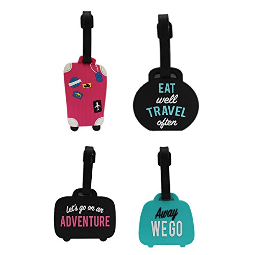 Tootpado Luggage Tag Adventure Travel - Pack of 4 (CLNT34) - Bag Adventure Tags