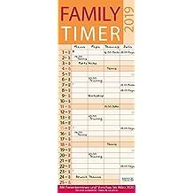 Family Timer Lifestyle 2019: Familienplaner mit 4 breiten Spalten. Hochwertiger Familienkalender mit Ferienterminen, Vorschau bis März 2020 und nützlichen Zusatzinformationen.