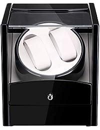 floureon Montre de Rotation Automatique Remontoir à Montres Automatique Design Box 2 + 0, supportez Deux Montres pivotent en même Temps.