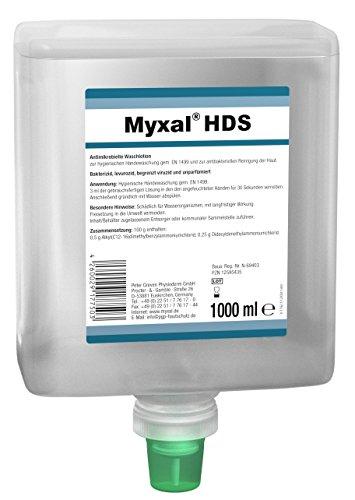 Antimikrobielle Seife Myxal® HDS Neptunflasche 1 L Antimikrobielle Waschlotion für Hände - Antimikrobielle Seife