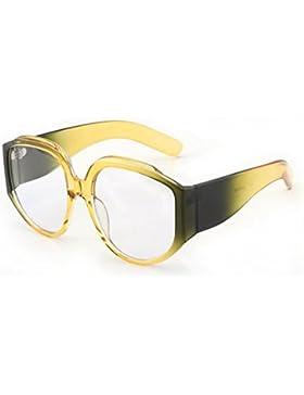 HONEY Gafas De Sol De Personalidad Estilo Europeo Y Americano - Gafas De Mujer Retro - Marco Grande ( Color :...