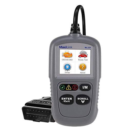 Autel MaxiLink ML329 OBD2 Diagnosegerät Deutsche-Auslesegerät für VW BMW Audi etc, mehr OBD2-KFZ-Fehlercodes Auto Auslesen & Löschen, Software Free Update, OBD Verlängerungskabel inklusive